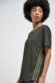 adidas 3 Stripe Training T-Shirt