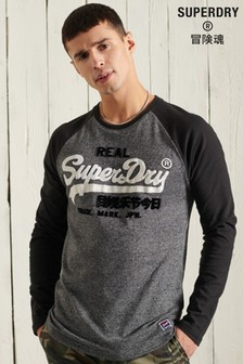 Superdry Vintage Logo Raglan Long Sleeve Top