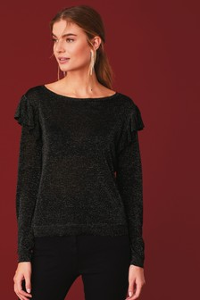 Sparkle Ruffle Jumper