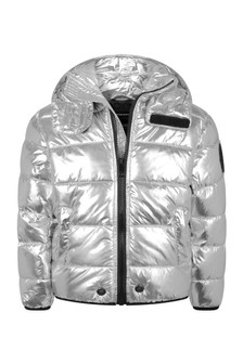 Boys Silver Padded Jacket