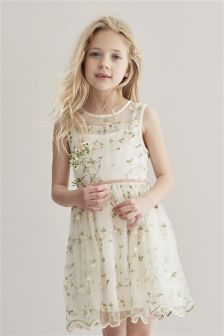 Embroidered Bridesmaid Dress (3-16yrs)