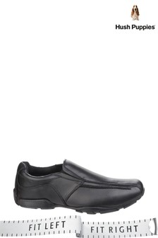 Hush Puppies Black Bespoke Senior Back To School Shoes