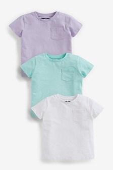 3 Pack Organic Cotton Plain T-Shirts (3mths-7yrs)