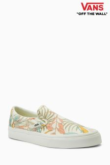 Vans Cream Floral Slip-On