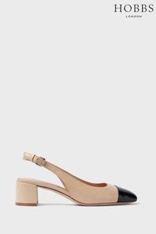 Hobbs Beige Emily Slingback Shoes