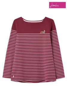 Joules Purple Harbour Embroidery Jersey Top