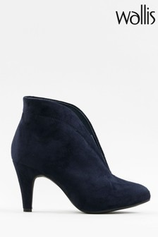 Wallis Amuse Navy Elastic Gusset Shoeboots