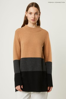 French Connection Natural Normie Block Knits Jumper