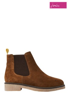 Joules Dark Brown Chepstow Casual Suede Chelsea Boots