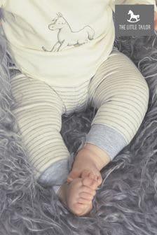 The Little Tailor Slouchy-Hose aus Jersey mit gefärbtem Streifen, creme