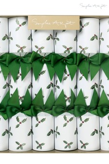Set of 6 Sophie Allport Holly & Berry Christmas Crackers