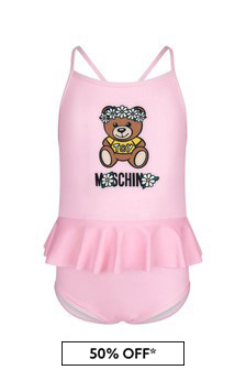 Moschino Kids Baby Girls Pink Swimsuit