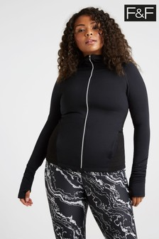F&F Performance Zip Through Hoody