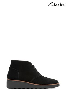 Clarks Black Sharon Hop Boots