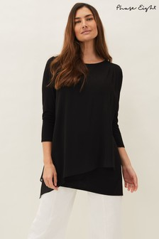 Phase Eight Black Mika Longline Top