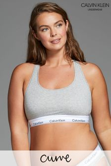 Calvin Klein Grey Modern Cotton Plus Bralette
