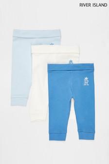 River Island Blue Boys Multipack Basic Leggings