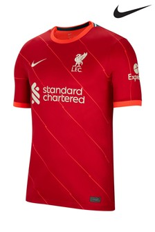 Nike Red Liverpool FC 21/22 Home Football Shirt