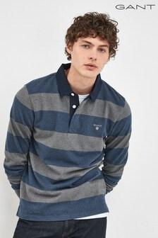 GANT Grey Original Barstripe Heavy Rugger Poloshirt