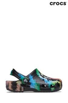 Crocs Black Tie Dye Classic Clogs
