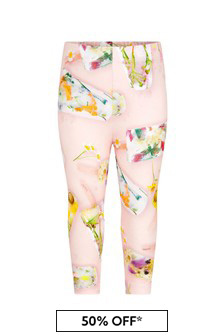 Molo Baby Girls Pink Cotton Leggings