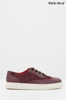 White Stuff Claret Belinda Leather Brogue Trainers
