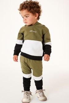 Colourblock Jersey Hoodie And Jogger Set (3mths-7yrs)