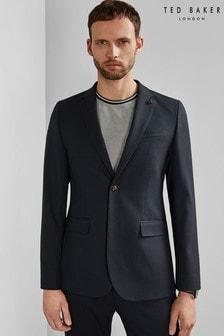 Ted Baker Blue Hemsby Textured Semi Plain Jacket