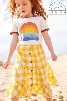 Little Bird Organic Cotton Gingham Skirt