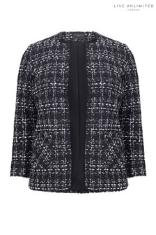 Live Unlimited Black Check Bouclé Jacket