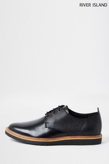 River Island Black Casual Derby Shoes