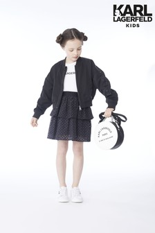 Karl Lagerfeld Kids Black Frill Skirt