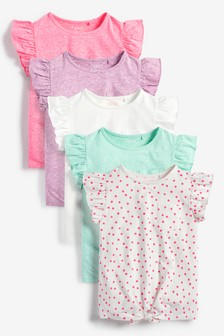 Baby Girls Short Sleeved Tops 2 Pack  100/% Cotton Ideal Summer item