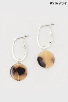 White Stuff Tortoiseshell Effect Disc Earrings
