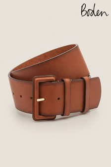 Boden Brown Wide Leather Belt