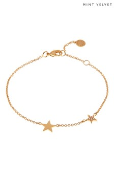 Mint Velvet Gold Plated Double Star Bracelet