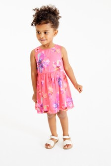 Butterfly Print Party Dress (3mths-7yrs)