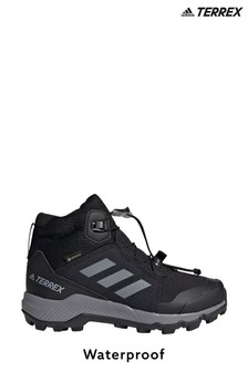 adidas Black Terrex Mid Gore Tex Hiking Youth and Junior Trainers