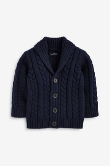 Cable Button Through Cardigan (3mths-7yrs)