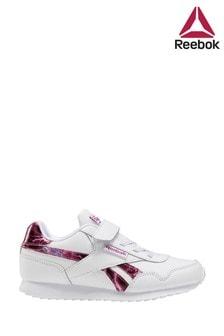 Reebok White/Pink Royal Jogger Junior Trainers