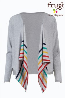 Frugi Grey Rainbow Organic Cotton Breastfeeding Cardigan