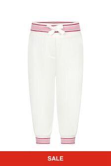 Dolce & Gabbana Kids Dolce & Gabbana Baby Girls Pink Cotton Joggers