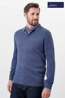 Joules Blue Knitted Polo