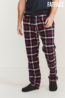 FatFace Red Ballintoy Check Lounge Pants