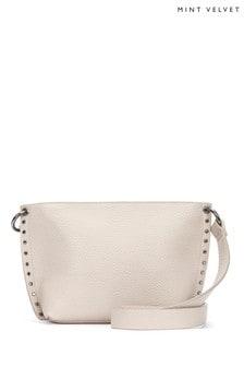 Mint Velvet Kirstie Chalk Stud Cross Body Bag