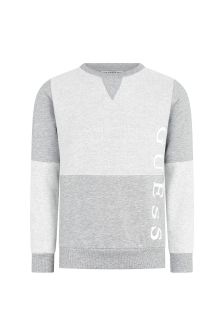 Guess Boys Grey Cotton Sweater