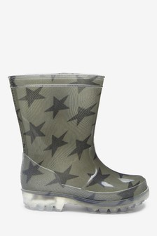 Star Light-Up Wellies (Younger)