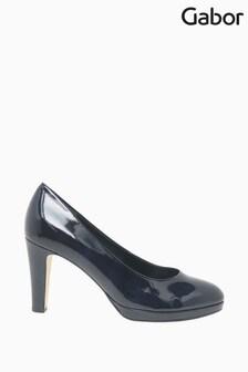 Gabor Splendid Marine Patent HT Dress Court Shoes