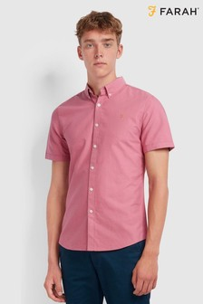 Farah Cotton Oxford Brewer Short Sleeved Shirt