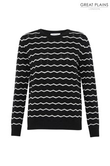 Great Plains Black Bresle Knit Round Neck Jumper